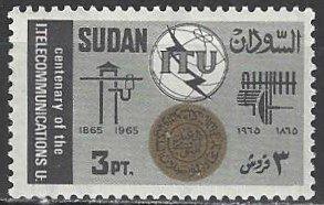 Sudan  176-8    MNH  ITU Centennial
