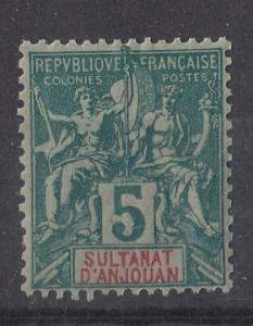 Anjouan 4 SG 4 MH VF 1892 SCV $9.50