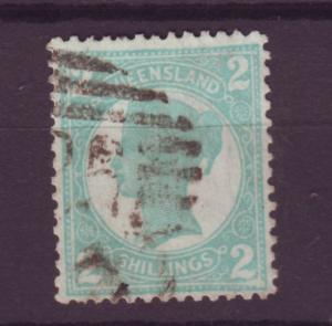 J16381 JLstamps 1897-1900 queensland used #122 queen