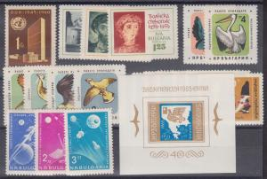 Bulgaria Sc 1129/1429 MNH. 1961-1965 issues, 6 cplt sets