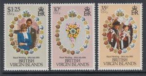 British Virgin Islands 406-408 Royal Wedding MNH VF