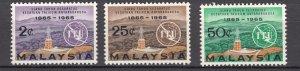 J27522 1965  malaysia set mnh #12-4 ITU