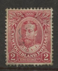 Newfoundland - Scott 105 -Royal Family Issue - 1911 - Used - Single 2c Stamp