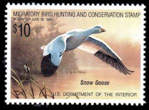 1988 RW55 DUCK STAMP OG MNH Snow Goose