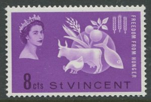 STAMP STATION PERTH St.Vincent #201 Freedom from Hunger 1963 MNH CV$1.00