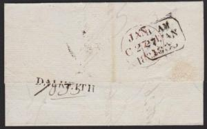 GB SCOTLAND 1835 entire DALKEITH s/line - Edinburgh h/s 2 local PP.........5280