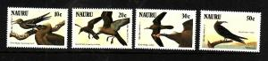 Nauru-Sc#313-6-Unused NH set-Birds-Audubon-1985-