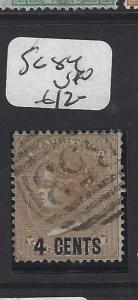 MAURITIUS  (P1905B)  QV  4C SURCH SG 84   VFU