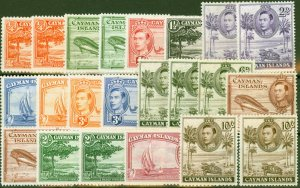 Cayman Islands 1938-47 Extended set of 22 SG115-126 All Shades & Perfs Ex 125a F