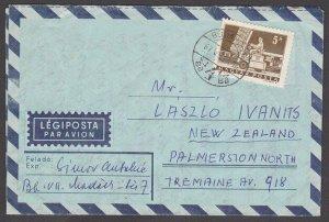 HUNGARY 1967 formular aerogramme commercially used to New Zealand...........J785