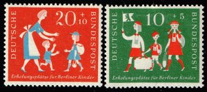 GERMANY SEMI POSTAL STAMP 1957 Charity Stamps for Children from Berlin MH/OG SET