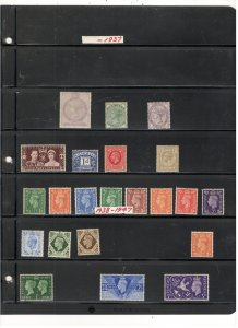 GREAT BRITAIN COLLECTION ON STOCK SHEET, ALL MINT, MOSTLY MNH