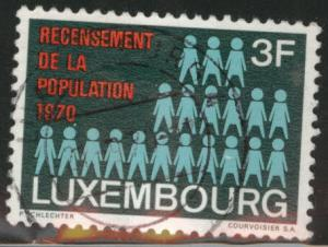 Luxembourg Scott 492 Used 1970  Census stamp