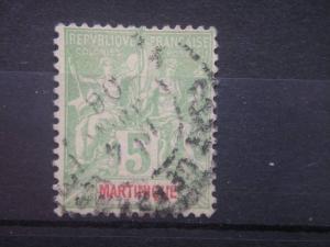 MARTINIQUE, 1899, used 5c, MARTINIQUE. Scott 37