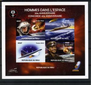 SPACE Halley's Comet Gagarin Deluxe Sheet Ungummed Mint (NH)