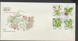 o) 1988 PALAU, FLOWERS, PLANTS, FDC XF