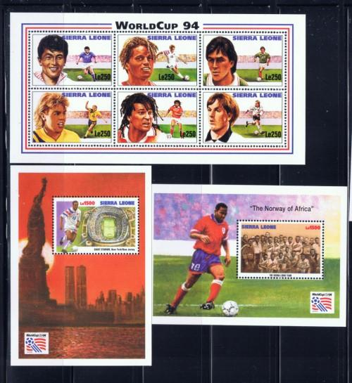 Sierra Leone 1731-33 NH 1994 World Cup set