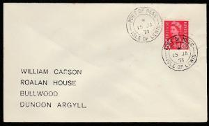 GB SCOTLAND 1971 cover PORT OF NESS / ISLE OF LEWIS  cds..................66706A