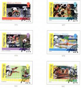 Isle of Man Sc 942-7 2002 Commonwealth Games stamp set used