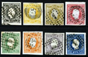 PORTUGAL 1885 Reprint King Pedro Curved Label Set Imperforate SG 35 to SG 47 VFU