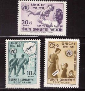 TURKEY Scott B85-B87 MNH** Anti Malaria set