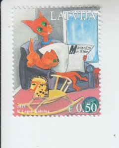 2019 Latvia Fathers Day  - Cats (Scott 1030) MNH