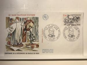 France Colorano silk FDC, 13 nov 1982, Découverte du bacille de Koch, Paris