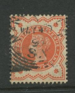 Great Britain  #111  FU 1887 Single 1/2p Stamp