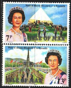 Isle Of Man. 1979. 150-51. Queen of England, visit. MNH.