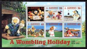 Alderney 153a Souvenir Sheet MNH VF