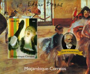 Mozambique 2004 TCHAIKOVSKY Paintings by Degas s/s Perforated Mint (NH)