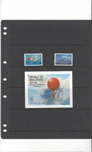 Maldives MNH Stamps & Souvenir Sheet UPU 19th Congress Hamburg