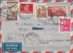 YUGOSLAVIA - 5din 1948 Air Letter - Registered & Uprated - Subotica to Belgium