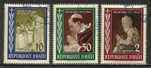 Haiti 1959 Scott# 444-446 Used CTO