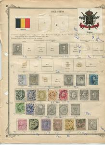 STAMP STATION PERTH Belgium # Various Selection of 46 Stamps 1865-98 Mint /Used