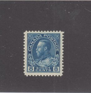 CANADA # 113 VF-MNH KGV 8cts ADMIRAL CAT VALUE $180