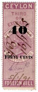 (I.B) Ceylon Revenue : Foreign Bill 40c on 2R 25c OP (Third)