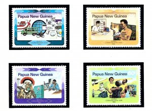 Papua New Guinea 584-87 MNH 1983 World Communications Year