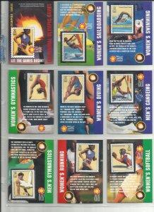 3068a-3068t  Twenty 32c Atlanta Centennial Olympics Stampers Cards MNH