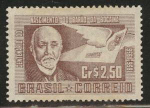 Brazil Scott 842 MH* 1956