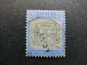 A4P21F32 Jamaica 1903-04 Wmk Crown CA 2 1/2d used