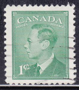 Canada 284 King George VI with Postes-Postage 1949