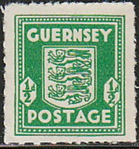 Stamp Germany Guernsey Mi 01c Sc N1 WWII 1941 War Germany Occupation England MH