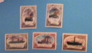 Russia - 4532-36, MNH Set. Icebreakers. SCV - $2.20