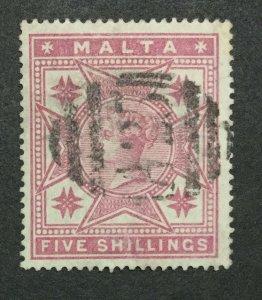 MOMEN: MALTA SG #30 1886 USED LOT #198916-6331