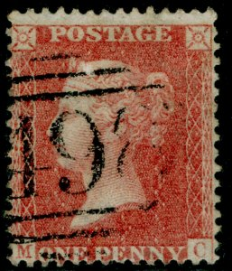 SG38, 1d pale red PLATE 47, LC14, FINE USED. Cat £35. MC
