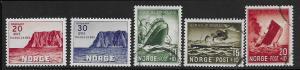Norway B29 - 30 mnh, B35 - 37 used 2017 SCV $28.60