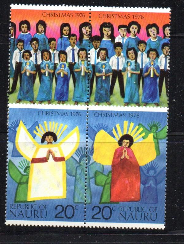 Nauru Sc 146-9 1976 Christmas stamp set mint NH