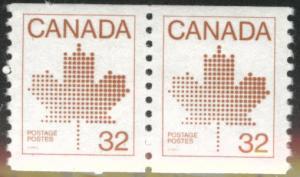 Canada Scott 951 MNH** coil pair