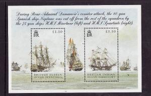 BIOT-Sc#303-unused NH sheet-Ships-Battle of Trafalgar-2005-